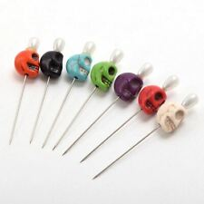7pcs Skull Head Pattern Pins For Evil Voodoo Curse Needles Voodoo Doll Accessory