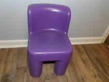 VHTF Little Tikes Retired  PURPLE Child Chair Sturdy Plastic Chunky