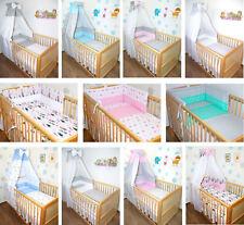 Baby Bettset 5-20T Himmel Bettwäsche Nestchen Himmelstange Sterne Dots