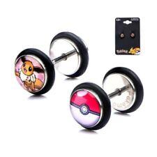 Orecchini di bigiotteria multicolore bottoni in acciaio