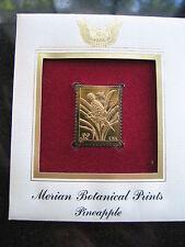 MERIAN BOTANICAL PRINTS PINEAPPLE replica 22kt Gold Golden Cover Stamp FDC 1997