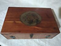 Knotted Cedar Wood Jewelry Case VTG MCM Trinket Box Hinged Footed 1950's McGraw