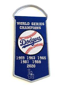 Los Angeles Dodgers MLB World Series Championship Retirement Mini Banner Pennant
