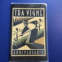Vintage Menu Tra Vigne Anniversario Restaurant Art Deco Cover