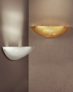 Wall Light Classic Metal And Glass White Gold