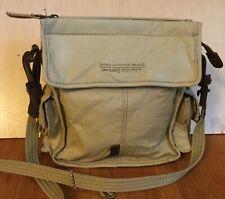 "Fossil Explorer Khaki Cotton/Canvas Crossbody Shoulder Bag 8 1/2"" x 9"" x 3"""