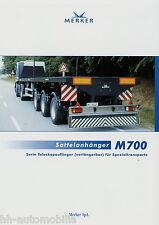 Prospekt D Merker M700 Sattelanhänger 8 02 2002 brochure semi trailer LKW Anhäng