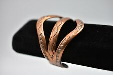 Copper Bracelet Southwestern Bangle Cuff Tribal Arthritis Relief Folklore Bin2