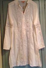 MONSOON ORIGINALS New Embroidered Bead & Jewel Boho Summer Tunic Size 12