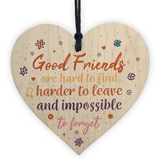 Best Friend Sign Friendship Plaque Handmade Chic Wooden Heart Thank You Gift