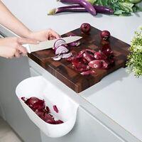 Hanging Kitchen Waste Bin Fit On Cupboard Door Food Scraps Veg Peeling Worktop