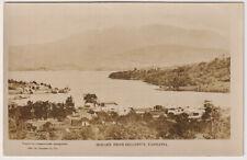 "TASMANIA 1925: ""American Fleet"" real photo card w/view HOBART FROM BELLERIVE"