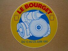 AUTOCOLLANT STICKER AUFKLEBER SNECMA GENERAL ELECTRIC CFM LE BOURGET 1991