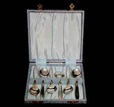 Vintage Angora EPNS silver plated set of 6 small teaspoons in original box