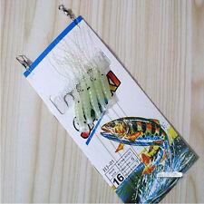 25pcs Soft Fishing Lure Tackle Luminous Shrimp Bait Rigs Sabiki Hook Jigs Packs