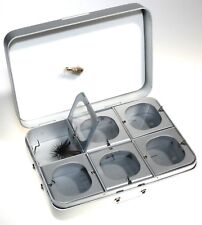 Okuma Fly Box 6 Window Compartments: Foam in Lid Silver 135-6Wrs