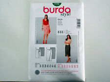 """BURDA SKIRT SEWING PATTERN MISSES' FITTED """"STYLE"""" # 7196 SIZES 8 THRU 20"""
