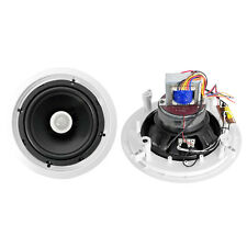New PyleHome Pdic80T 8'' Two-Way In-Ceiling Speakers w/70V Transformer