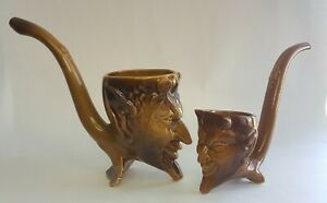 Pair of vintage drinking mugs, made in the USSR.