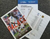 Crystal Palace v Wolves Wolverhampton Programme with Teamsheet 22/9/19!!!!