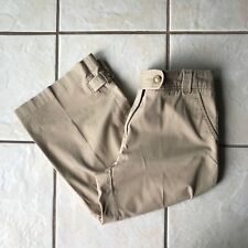 Nautica Women's Camel Tan Khaki Cotton Stretch Cropped Capri Pants 12 MINT
