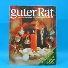 Guter Rat 4-1984 Verlag für die Frau DDR Eisbein Weihnachten Kochtöpfe Plaste D
