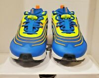 Nike Air Max 270 React ENG Solar Blue Volt Orange CD0113-401 Men's Size 12 NEW