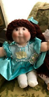 "Vintage 1985 Porcelain 16"" Cabbage Patch Applause Long Braid Brown Red Hair CofA"