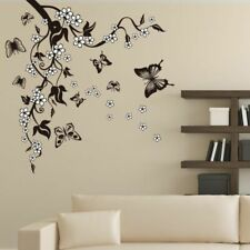 Butterfly Flower Branch Decals DIY Mural Art Home Decor Living Room PVC Stickers