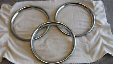 "Set of 3 OEM Chrome 13"" Wheel Trim Beauty Rings for Sunbeam Alpine Tiger"