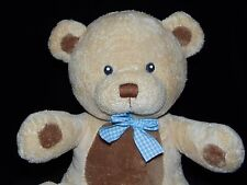 RUSS CUBBLES TEDDY BEAR SOFT TOY CREAM BROWN COMFORTER BLUE NECK RIBBON DOUDOU