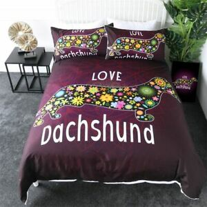 Dachshund Bedding Sets Cute Puppy Comforter Cartoon Cover Mandala Bedspread Gift
