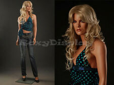 Female Fiberglass Mannequin Beautiful Face with elegant pose Style #MZ-LISA6