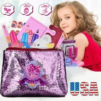 Pretend Play Cosmetic Makeup Toy Set For Little Girls Kids Beauty Toys Princess