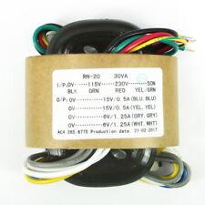 30W R-CORE TRANSFORMER for preamp/dac/headphone 115V 230V OUTPUT: 15V*2+6v*2