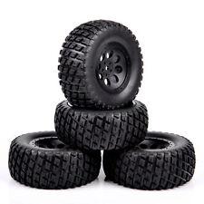4Pcs  For RC 1:10 TRAXXAS SLASH HPI Truck Short Course 12mm Hex Tires Wheel Rim