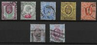 KEVII- 7 Stamps- Good/ Fine Used Condition. Unchecked For SG No.,Etc.  Ref:07156
