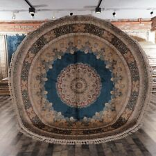 Yilong 9.1'x9.1' Classic Round Carpet Hand Knotted Silk Circle Area Rug C50A