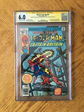 Marvel Team-Up #65 Signed Claremont Sinnott Perez 1st Captain Britain 6.0 FN CGC