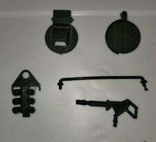 Vintage GI JOE Parts - Warthog - Grenade Launcher, Hatch Covers, Gun + Rail
