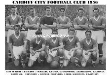 CARDIFF CITY F.C.TEAM PRINT 1956 (MALLOY/HITCHENS/FORD)