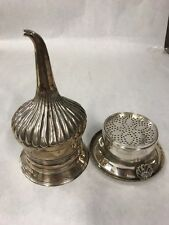 Vintage  Silver plate Wine Funnel strainer Barware Cocktail 2 pieces