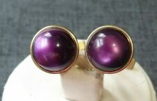 Purple Cufflinks gold tone