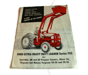 VTG 1959 Dealer Flyer Ford Extra Heavy Duty Loader Series 703 Tractor NAA 8N
