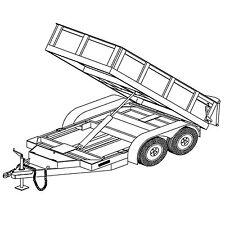 5'x10′ Hydraulic Dump Trailer Plans Blueprints – Model 10HD
