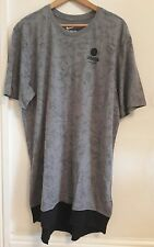 Nike Men's  Presto T-shirt Top  long length Grey Extra  Large