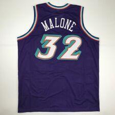 New KARL MALONE Utah Purple Custom Stitched Basketball Jersey Size Men's XL