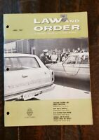 1967 June Law and Order Magazine for the Police Profession.  Free Shipping