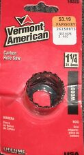 "Vermont American 18320 Wood 1 1/4"" Carbon Hole Saw New in Sealed Package"