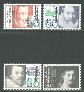 Netherlands 1983 Famous People semipostal--Attractive Topical (B585-88) MNH